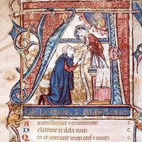 Gauthier de Coinci priant la Vierge